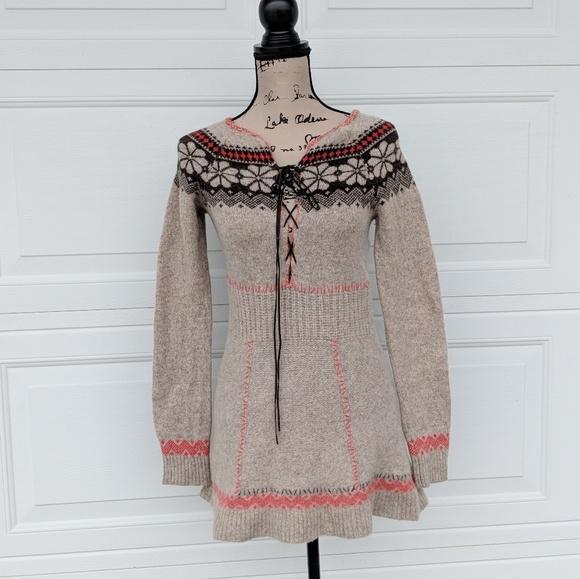 1c31e92b14a Free People Dresses   Skirts - Free People Sweater Dress Wool Beige Boho  Small